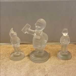 Goebel Hummel set of 3 Crystal figurines